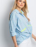 Jasnoniebieska koszula Stylish                                  zdj.                                  3