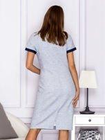 Jasnoniebieska sukienka z kieszeniami                                  zdj.                                  2