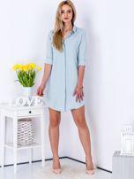 Jasnoniebieska sukienka z kołnierzykiem                                   zdj.                                  6