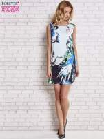 Jasnoniebieska sukienka z malowanym nadrukiem                                  zdj.                                  5