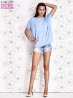 Jasnoniebieski t-shirt oversize                                  zdj.                                  2