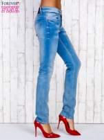 Jasnoniebieskie spodnie jeansowe z wysokim stanem                                  zdj.                                  2