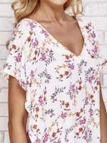 Jasnoróżowa koszula w kwiaty ze złotą lamówką                                  zdj.                                  5