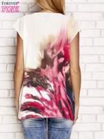 Jasnoróżowa koszula z abstrakcyjnym nadrukiem                                                                          zdj.                                                                         4