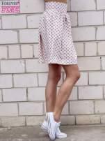 Jasnoróżowa spódnica w grochy z plisami                                                                          zdj.                                                                         4