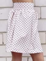 Jasnoróżowa spódnica w grochy z plisami                                                                          zdj.                                                                         5
