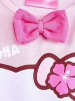 Jasnoróżowa sukienka dla dziewczynki z kokardką HELLO KITTY                                                                          zdj.                                                                         3