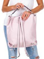 Jasnoróżowa torba-plecak z odpinanymi szelkami                                  zdj.                                  4