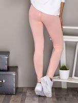 Jasnoróżowe legginsy basic                                  zdj.                                  2