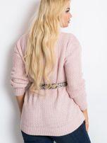 Jasnoróżowy sweter plus size Latte                                  zdj.                                  2