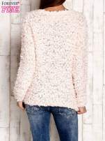 Jasnoróżowy włochaty sweter                                  zdj.                                  4