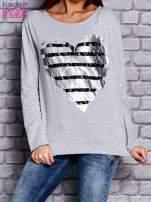 Jasnoszara bluza z sercem                                  zdj.                                  1