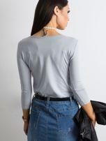 Jasnoszara bluzka Mona                                  zdj.                                  2