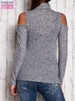 Jasnoszara bluzka z rękawami cut out shoulder                                  zdj.                                  4