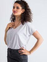 Jasnoszary melanżowy t-shirt Emory                                  zdj.                                  3