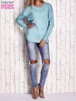Jasnoturkusowy sweter z okrągłym dekoltem                                  zdj.                                  2