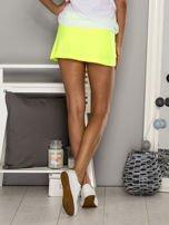 Jasnozielone gładkie spodenki spódniczka tenisowa                                   zdj.                                  1