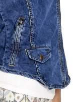 Jeansowa kamizelka w stylu biker                                                                          zdj.                                                                         6