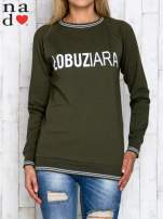 Khaki bluza z napisem ŁOBUZIARA