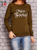 Khaki bluza z napisem MAM FOCHA                                  zdj.                                  1