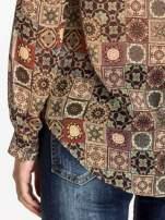 Khaki koszula w kwiatowe ornamenty                                  zdj.                                  7