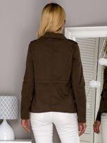 Khaki kurtka z kieszeniami                                  zdj.                                  2