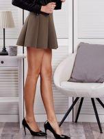 Khaki rozkloszowana spódnica damska                                  zdj.                                  5