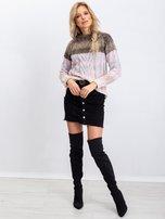 Khaki-różowy sweter Amelia                                  zdj.                                  4