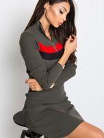 Khaki sukienka Freefall                                  zdj.                                  1