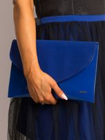 Kobaltowa lakierowana kopertówka z klapką                                  zdj.                                  5