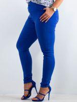 Kobaltowe spodnie North PLUS SIZE                                  zdj.                                  3