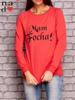 Koralowa bluza z napisem MAM FOCHA                                  zdj.                                  1
