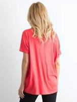 Koralowa bluzka Oversize                                  zdj.                                  2