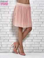 Koralowa plisowana spódnica do kolan                                                                          zdj.                                                                         2