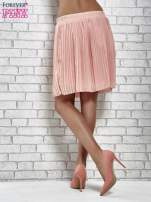 Koralowa plisowana spódnica do kolan                                  zdj.                                  5