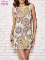 Koronkowa sukienka z kolorowymi kwiatami                                  zdj.                                  1