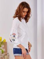 Koszula biała z haftowanymi rękawami                                  zdj.                                  8