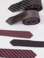 Krawat męski we wzory 5-pak wielokolorowy                                  zdj.                                  2
