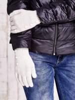 Kremowe rękawiczki z guzikami                                                                          zdj.                                                                         3