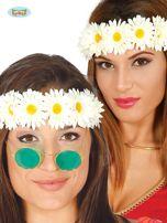 Kwiatowa opaska damska na głowę hippisowska