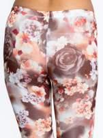 Kwiatowe elastyczne legginsy                                  zdj.                                  7