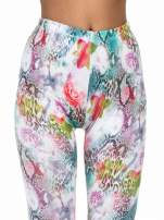 Kwiatowe legginsy w różnobarwne wzory                                  zdj.                                  5