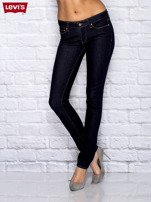 LEVIS Granatowe jeansy skinny                                   zdj.                                  1