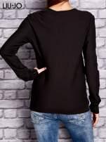 LIU JO Ciemnobrązowy sweter z trójkątnym dekoltem                                  zdj.                                  3