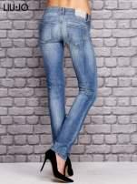 LIU JO Niebieskie spodnie jeansowe marble denim                                  zdj.                                  3