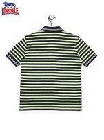 LONSDALE Granatowa koszulka polo chłopięca w paski                                  zdj.                                  2