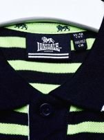 LONSDALE Granatowa koszulka polo chłopięca w paski                                  zdj.                                  5