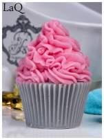LaQ Mydełko Duża Muffinka - różowo-szary / Zapach - truskawka + wata cukrowa BEZ SLS i SLES                                  zdj.                                  2