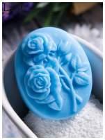 LaQ Mydełko Dwie róże - niebieski / Zapach - wata cukrowa BEZ SLS i SLES                                  zdj.                                  2