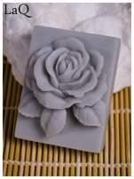 LaQ Mydełko Róża w prostokącie - szary / Zapach - wata cukrowa BEZ SLS i SLES                                  zdj.                                  4